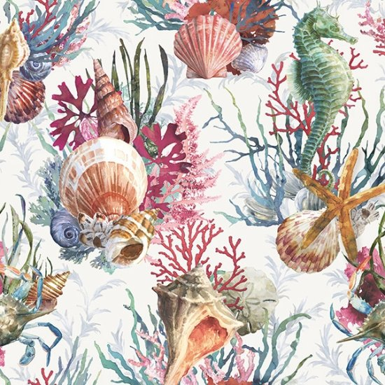 Hoffman | Shoreline Stories S4801 290 Seahorse Shells - Digital