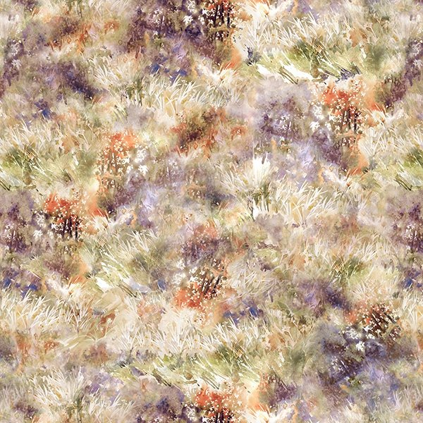 Hoffman Woodland Whispers Digital S4844 705 Dandelion Grass