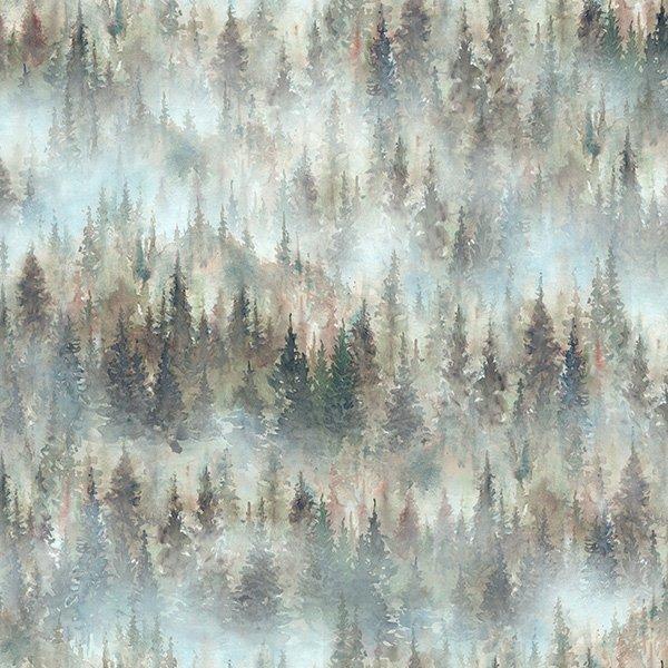 Hoffman Woodland Whispers Digital S4845 521 Mist Trees