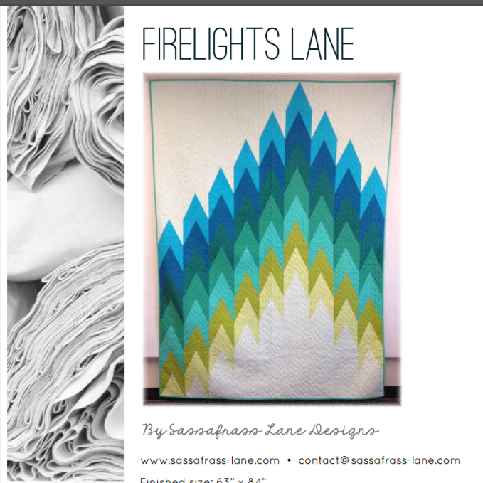 Free Pattern:  American Made Brand fabrics - FIRELIGHTS LANE