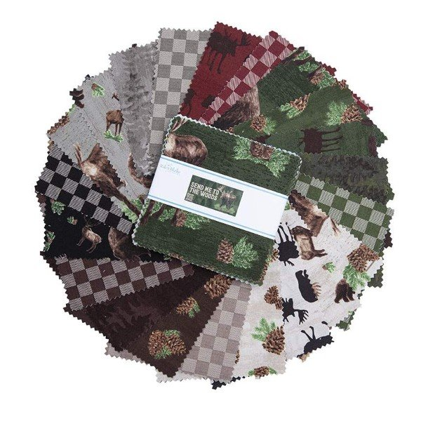Send Me To The Woods Stacker: 5 Squares 42pcs - by Riley Blake