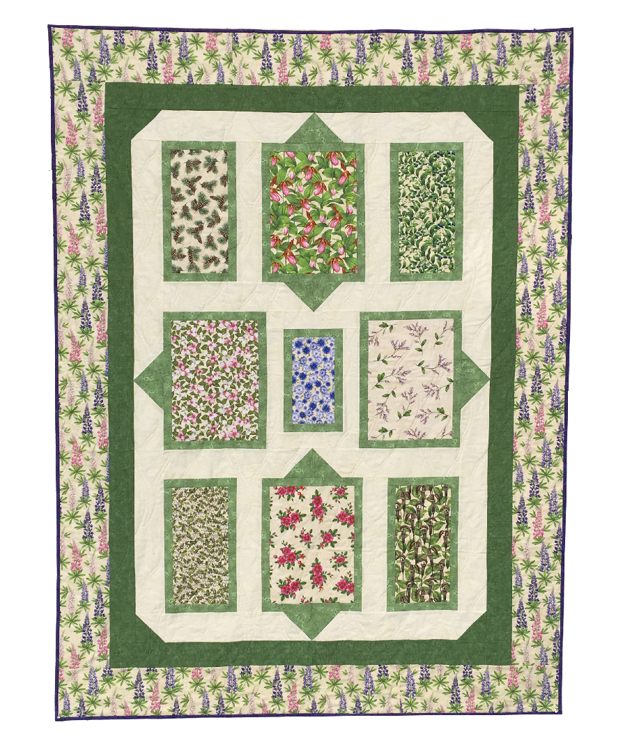Quilt for Sale: Wildflowers of Maine - Fences Quilt for Sale