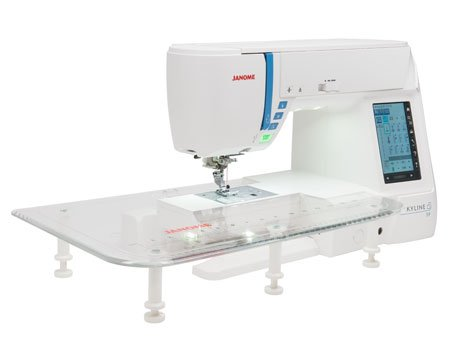 Janome Skyline S40 AllInOne Quilting Sewing Embroidery Machine Unique Adjustable Sewing Machine Extension Table