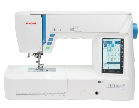 picture regarding Printable Embroidery Placement Guide called Janome Skyline S9 All-Inside of-1 Quilting Sewing Embroidery