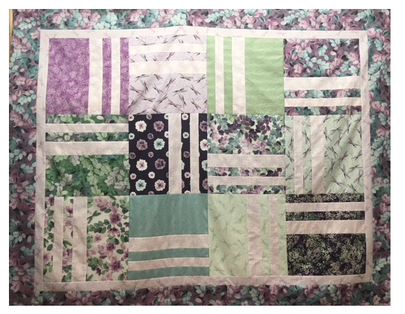 Slats Quilt Kit featuring Essence of Pearl Fabrics