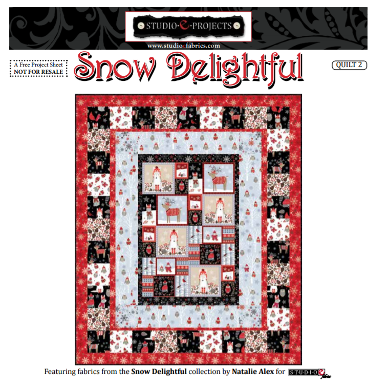 Free Pattern:  Snow Delightful by Studio E Fabrics