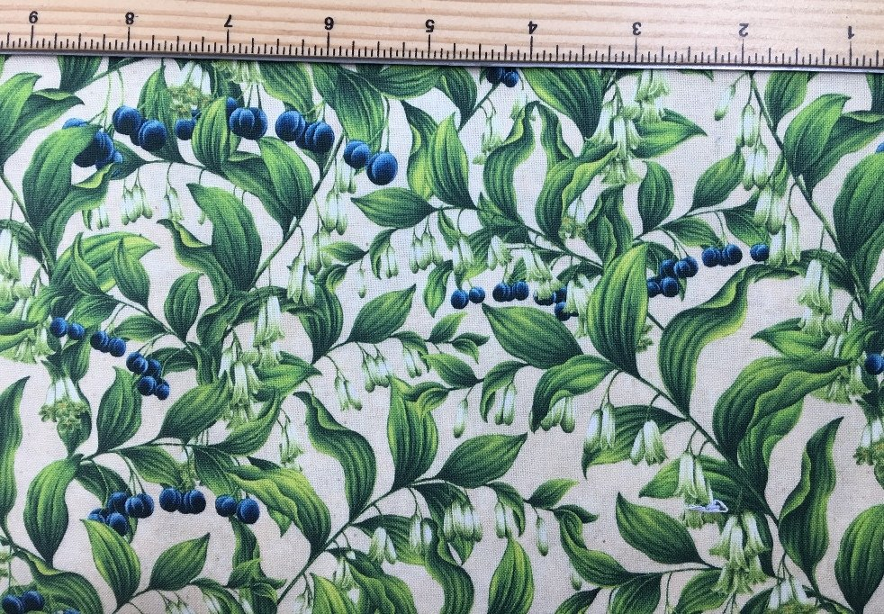 Robert Kaufman | Wildflowers of Maine - Maine Shop Hop Fabric - SOLOMON'S SEAL - AVAILABLE NOW