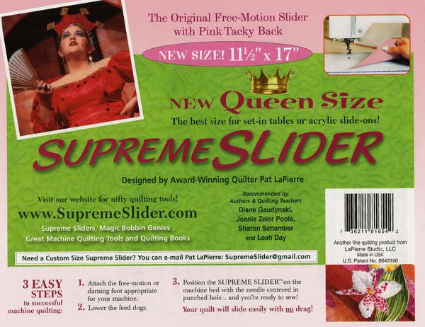 Supreme Slider Queen 11.5x17 for Free Motion