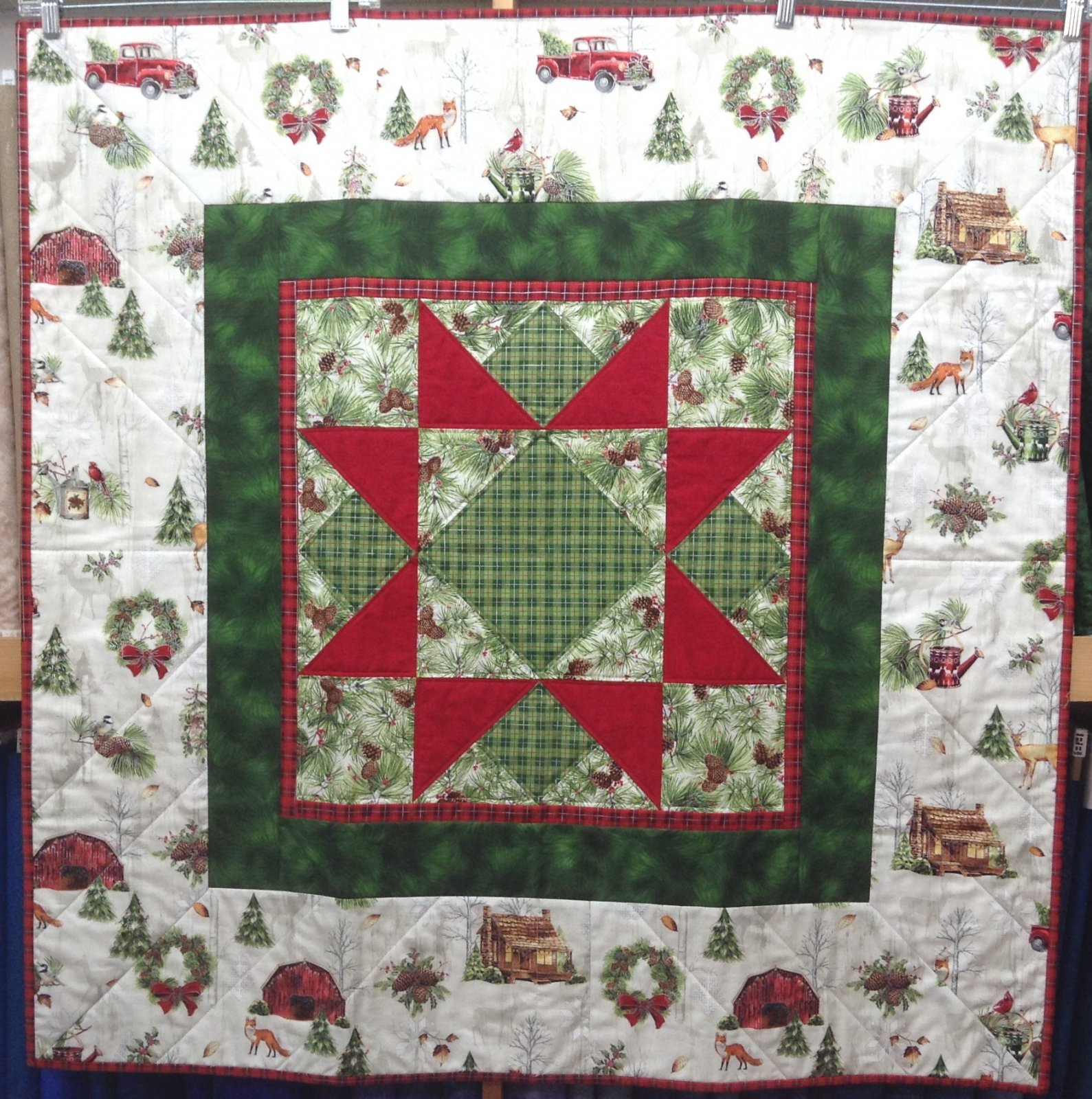 Quilt / Wall for Sale:  Winter Star Sample 40x40