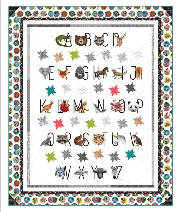 Free Pattern:  Hoffman Digital Prints: Stars of the Zoo featuring ZOOKEEPER fabrics