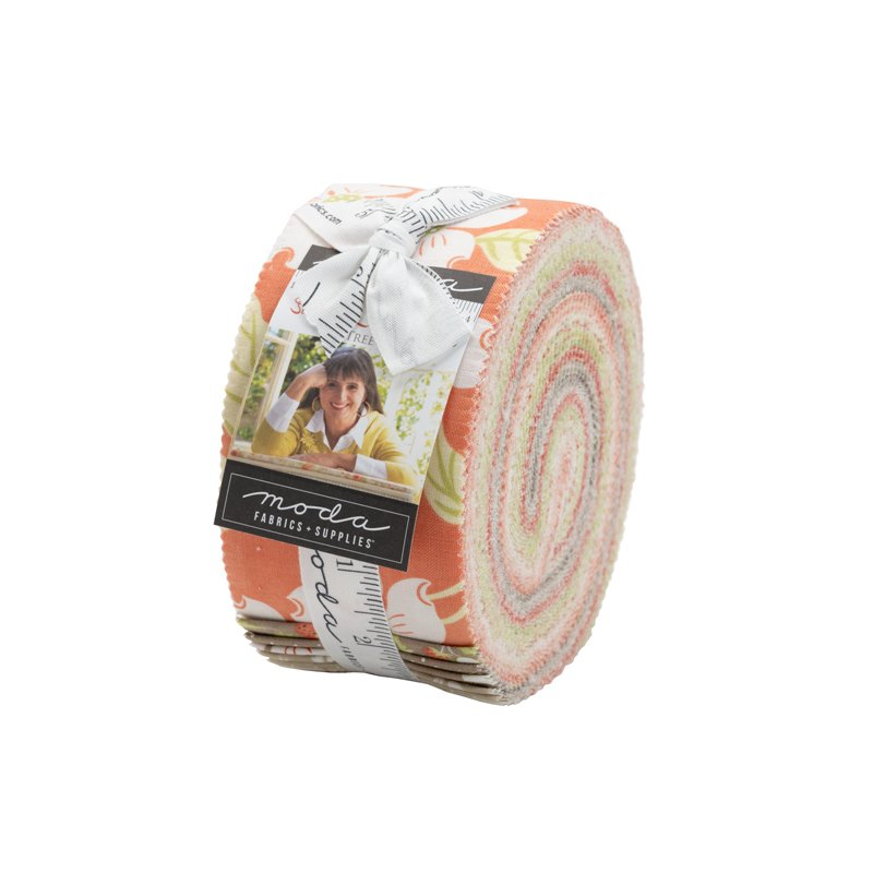 Moda   Strawberries and Rhubarb Jelly Roll 20400JR by Fig Tree and Co