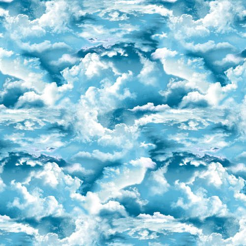 The Lightkeepers Quilt   5009-17 Blue Clouds by Studio E Fabric