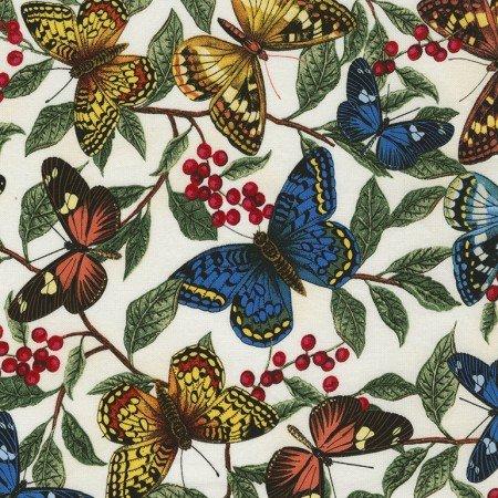 Timeless Treasures Garden Journal - Butterflies & Leaves Sue-C4568-Cream