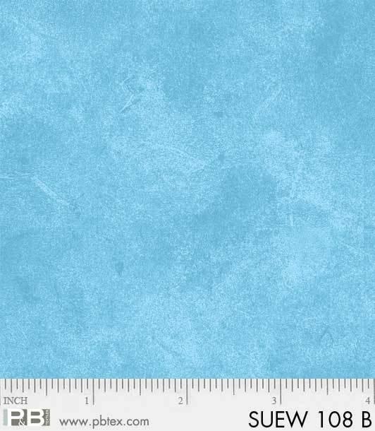P&B Suede 108 Wide Back SUEW 108 B Blue