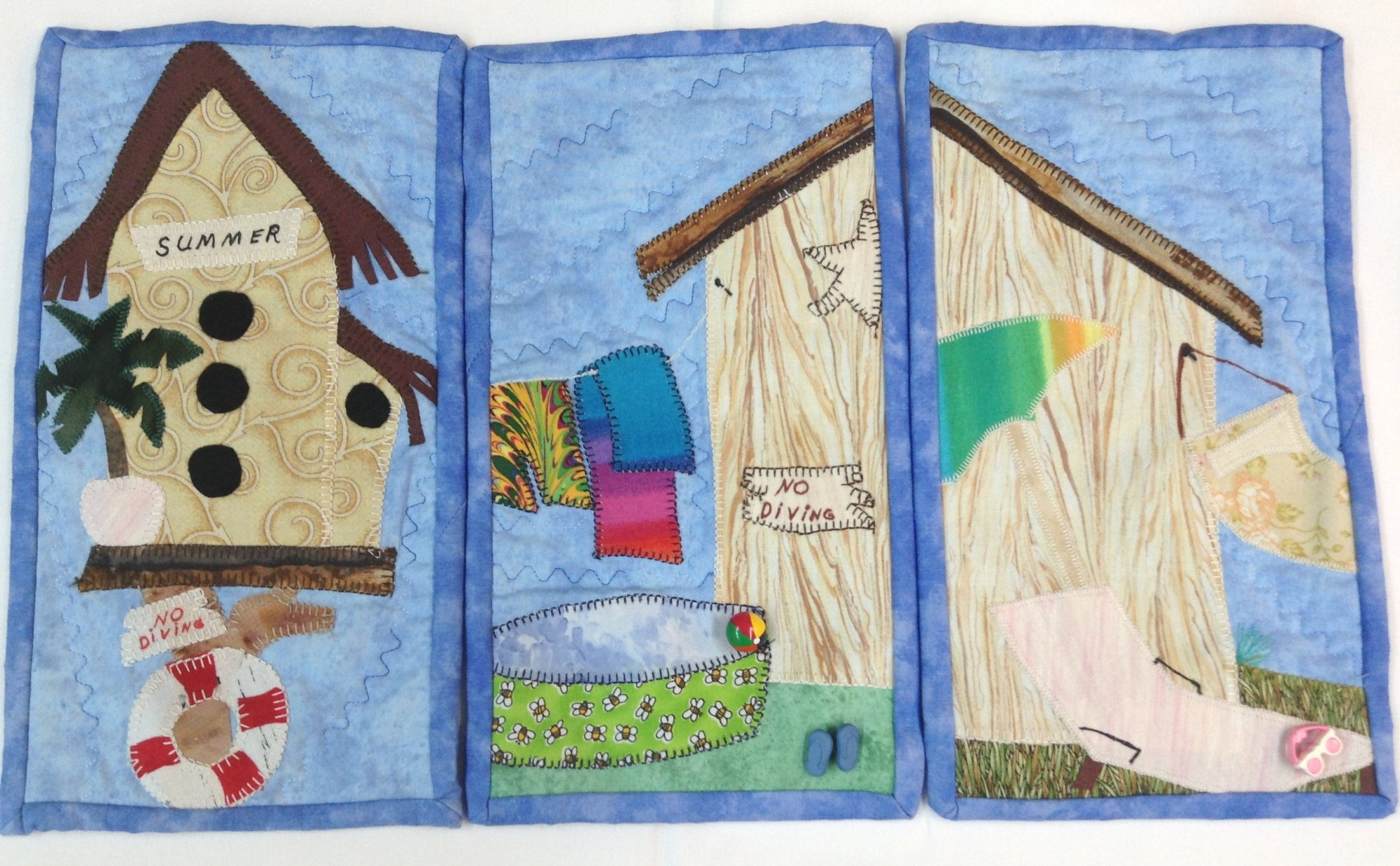 Wall Hangings for Sale:  Summer Birdhouse Theme - Includes 3 Wall Hangings