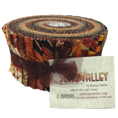 Kanvas Sun Valley | Pinwheel - 2 1/2 strips -  42 pieces assorted fabrics