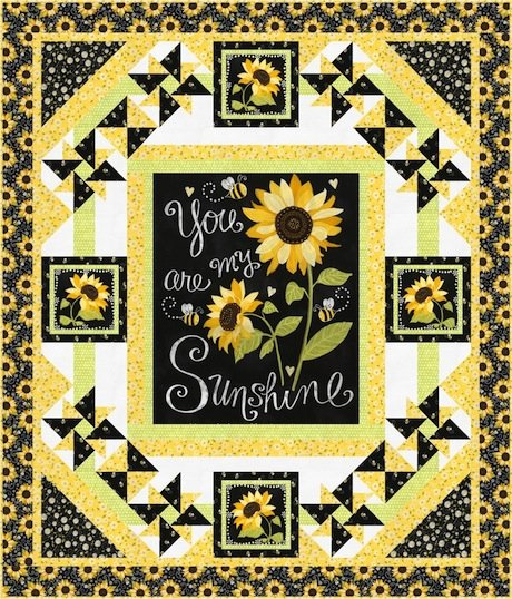 Quilt Kit:  You Are My Sunshine / Sunny Garden - Includes Panel Fabrics and Pattern