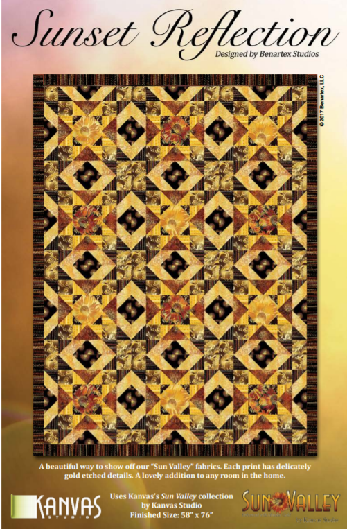 Free Pattern:  Kanvas Sun Valley Fabrics - SUNSET REFLECTION quilt