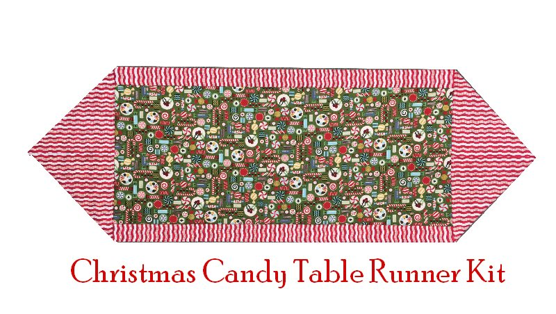 Ten Minute Table Runner Kit: Christmas Candy