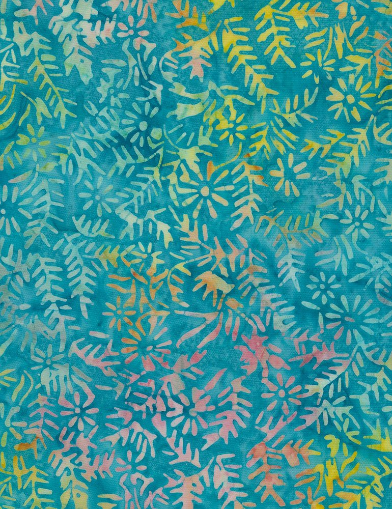 Timeless Treasures | Tonga Batik B7665 Aqua - Shrub Spines