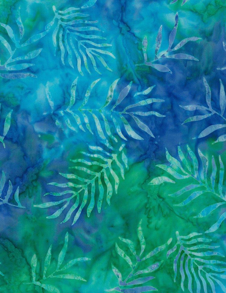 Timeless Treasures | Tonga Batik B7672 Sail - Feather Like Leaves