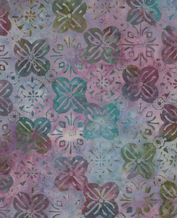 Timeless Treasures Tonga Batik B6928 Murmur - Watercolor Flowers