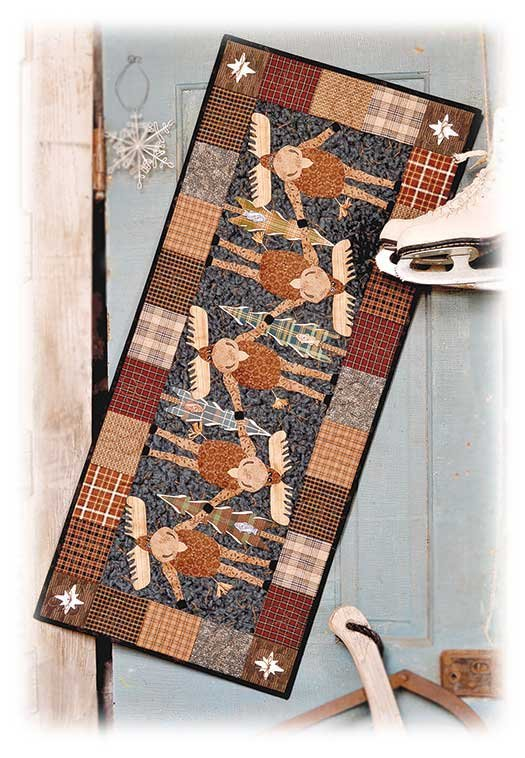 Pattern - Topsy Turvy Moose Table Runner or Wall Hanging