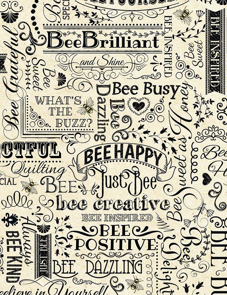 Timeless Treasures - Hive Rules - Bee Words BEE-C7172