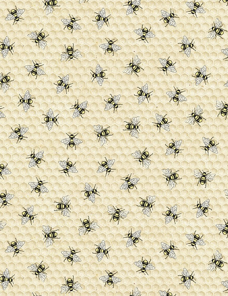 Timeless Treasures - Hive Rules - Tossed Bees BEE C7173