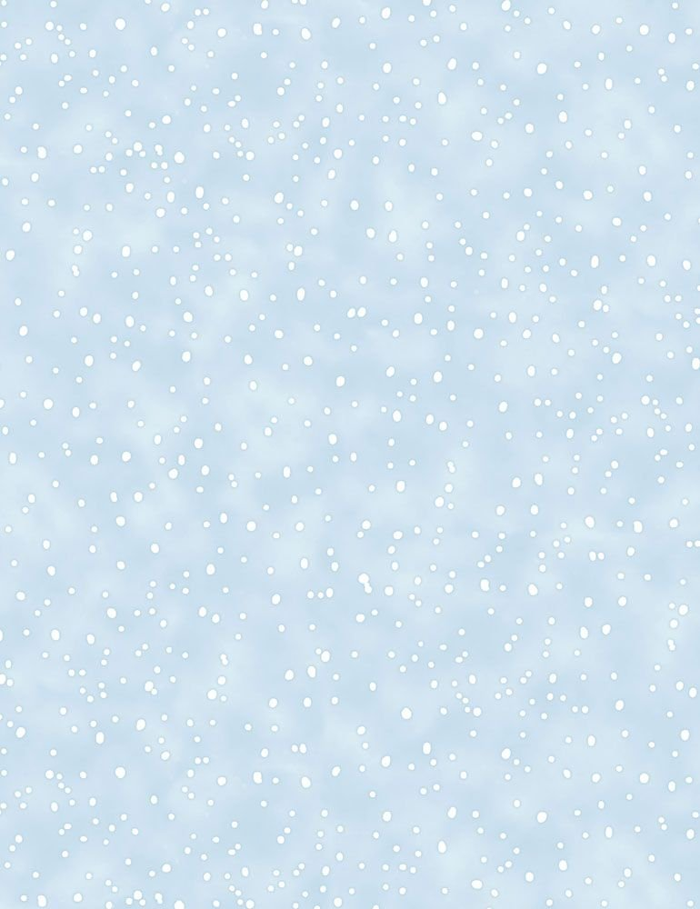 Timeless Treasures Snow Day C7557 Blue - Snow Snowing