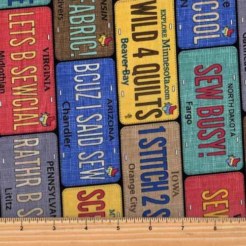 Timeless Treasures Row by Row 2017 Row-C5061-Multi License Plate