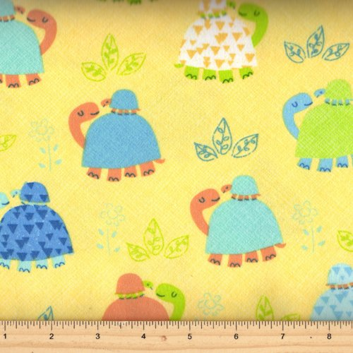Timeless Treasures Flannel  Kidz- CF3810 Yellow