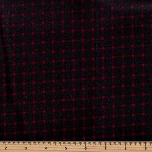Timeless Treasures Tailor Flannel - CF5326-Red Shepherd's Check