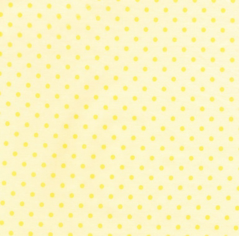 Little Star by Bunnies By The Bay for Timeless Treasures - Yellow Dot C1820 Banana