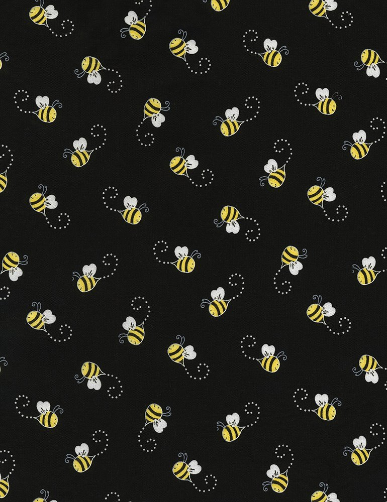 Timeless Treasures You Are My Sunshine |Bees Gail-C5496-Black