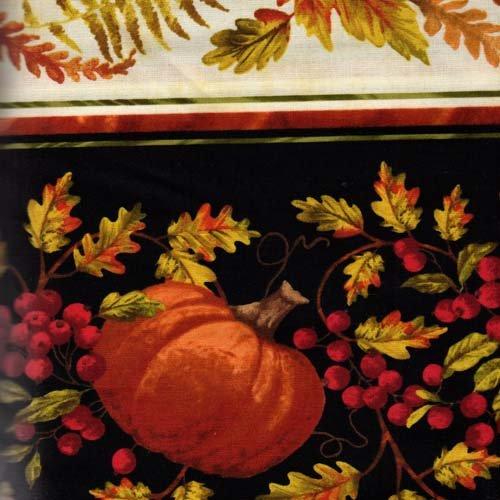 Timeless Treasures Harvest C2197 Pumpkin Fall Leaf Stripe