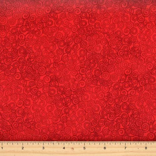 Timeless Treasures Flannel  Jazz-CF2664 Red