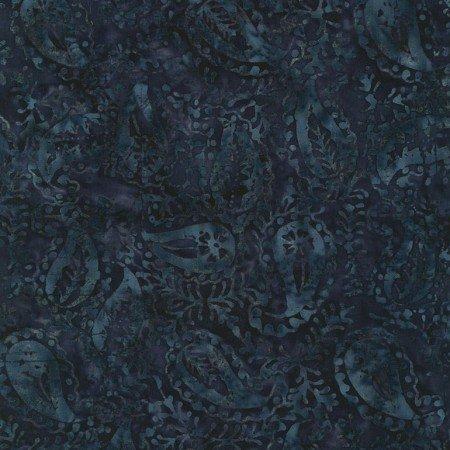 Timeless Treasures LUSH Tonga Batiks B4166 Ink Paisley Batik