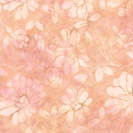 Timeless Treasures LUSH Tonga Batiks B4434 Blush Floral Scroll