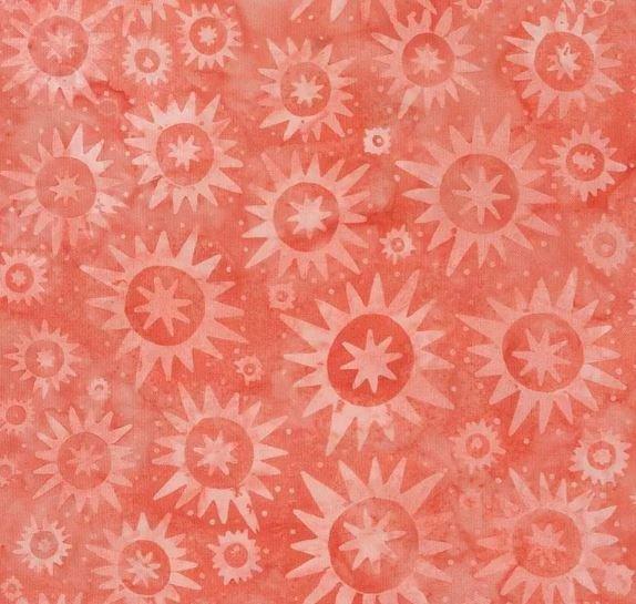 Tonga Batik B4391 Punch - Starbursts by Timeless Treasures