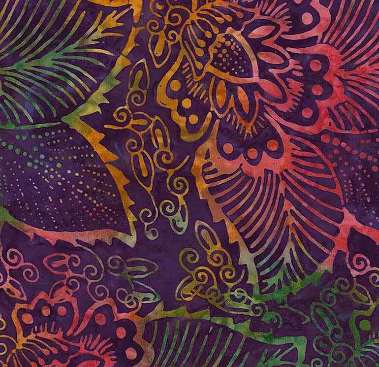 Tonga Batik B7119 Grape - Island by Timeless Treasures