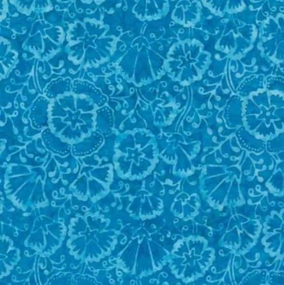 Tonga Batik B7160 Turquoise - Spring Floral by Timeless Treasures
