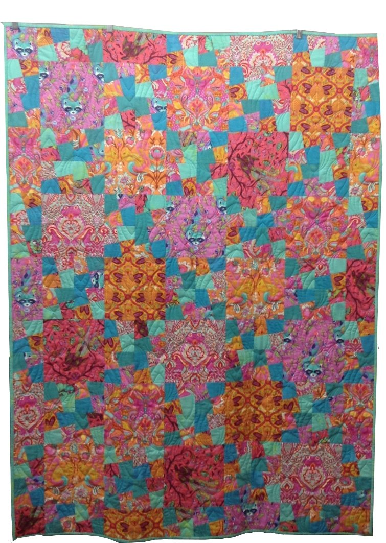Quilt For Sale: Tula Pink and Moda Fabrics Grunge 48 x 64