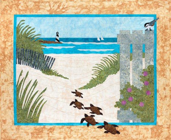 Turtle Beach - Wall Hanging Pattern by Sue Pritt