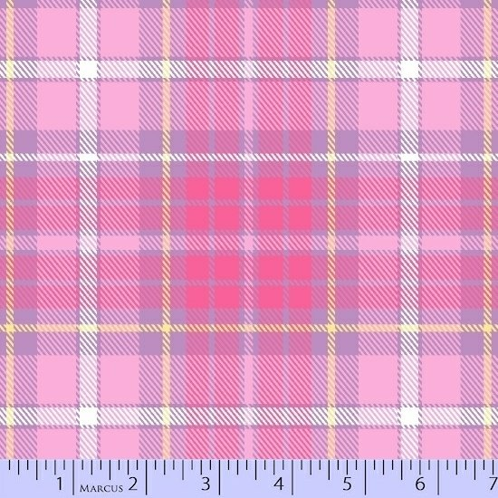 Marcus Sew Sweet Flannel U054-0126 Pink - by Sarah J Maxwell / Primo Plaid