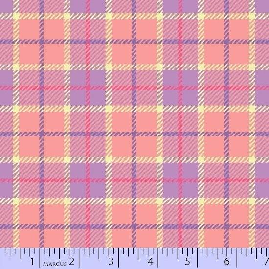 Marcus Sew Sweet Flannel U055-0172 Peach Violet - by Sarah J Maxwell / Primo Plaid