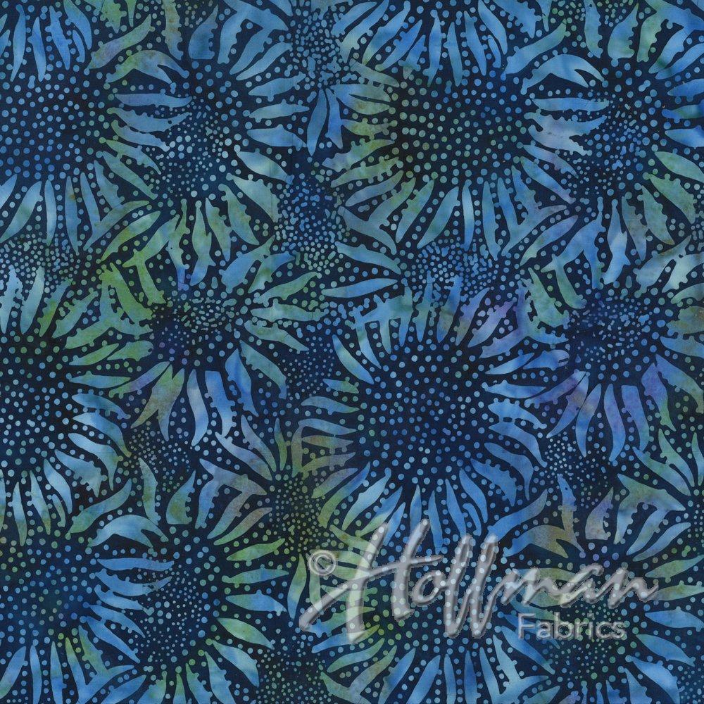 Hoffman Wide Back W884-123 Bali Batik - Sunflower Lapis
