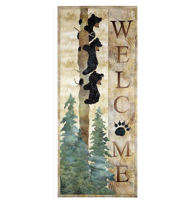Welcome Bear Inn - Quilt Kit featurning McKenna Ryan's Painted Forest fabrics