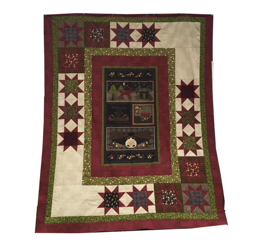 Welcome To The Woods Quilt Kit 66x82  - featuring Another Moose Is Loose fabrics