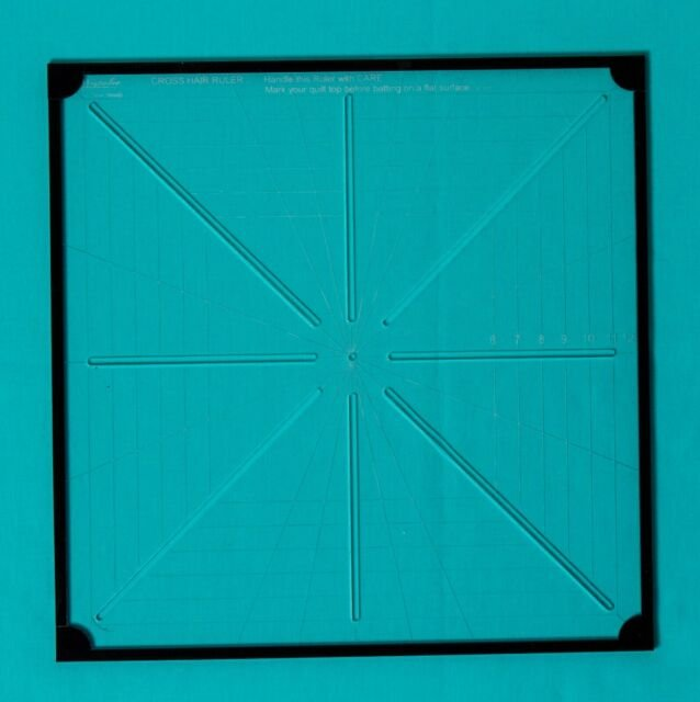 Westalee Design - Crosshair Square 6 Point Template 12-1/2in